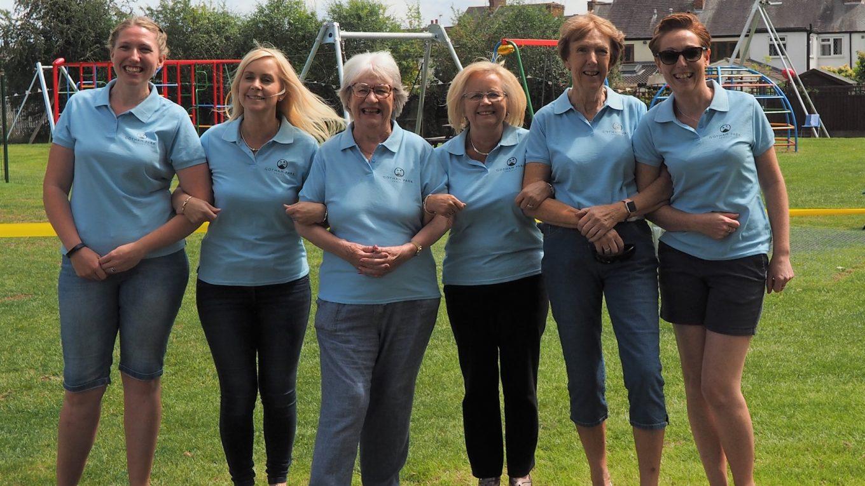 Jenny Howard, Clare Payne, Sue Bowley, Jane Youett, Louise Tucker and Pat Dines