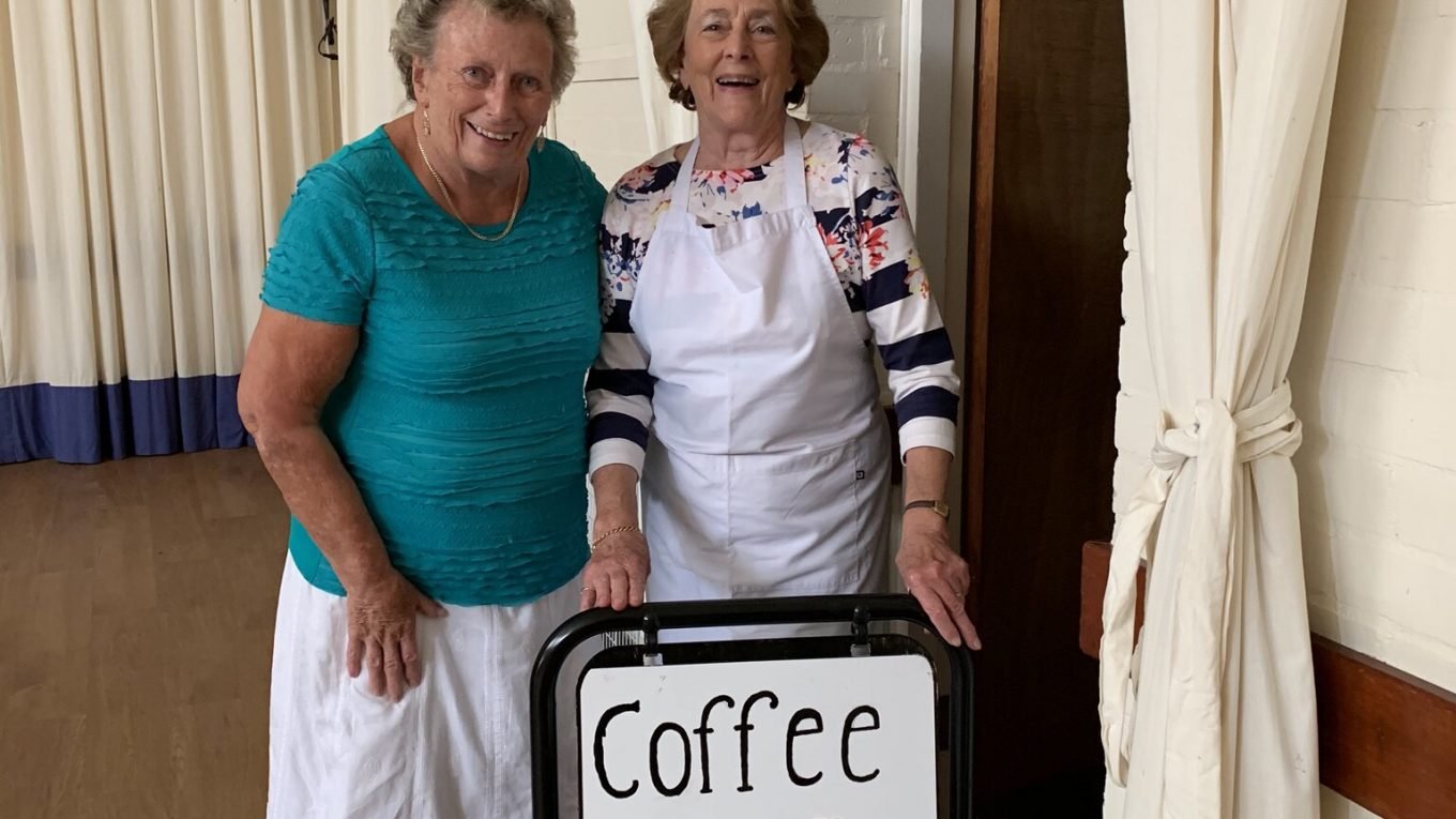 Coffee shop volunteers