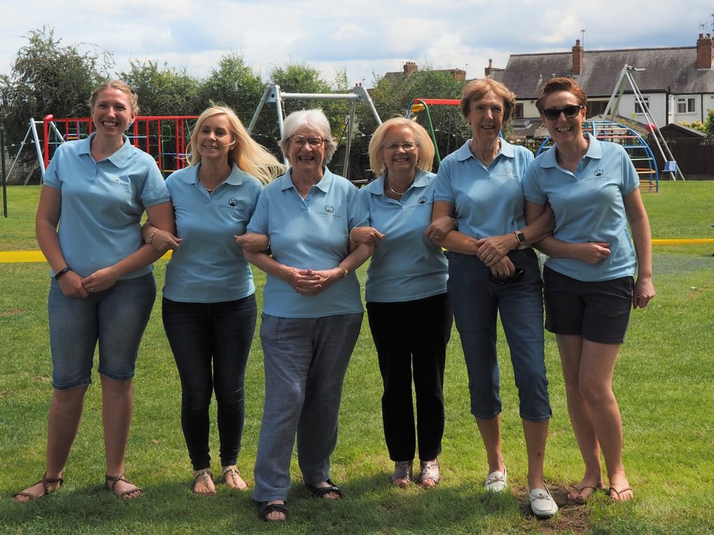 Jenny Howard, Clare Payne, Sue Bowley, Jane Youett, Louise Tucker and Pat Dines