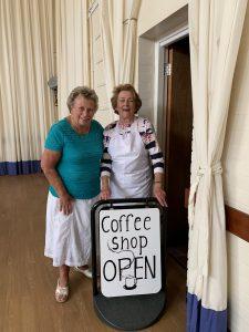 Coffee shop volunteers